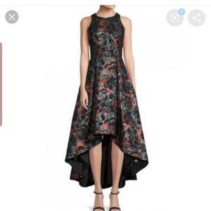 Aidan mattox printed jacquard high low dress
